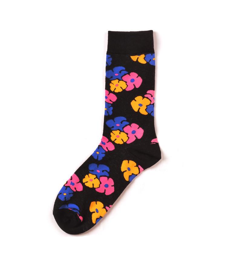 """Vyriškos kojinės """"Gėlynas"""" (juodos)"""