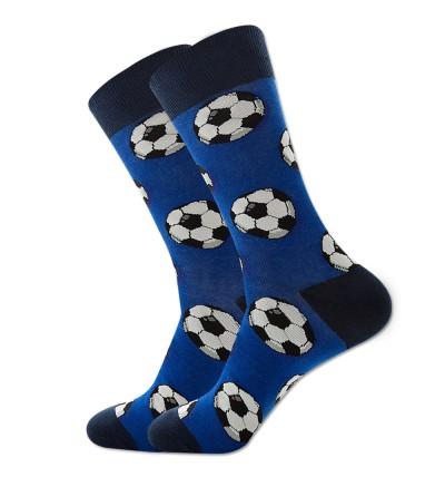 """Vyriškos kojinės """"Futbolas"""" (mėlynos)"""