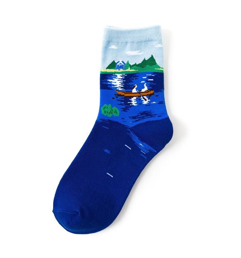 """Moteriškos kojinės """"Dviese valtyje"""""""