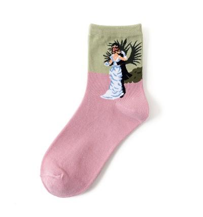"""Moteriškos kojinės """"Šokis mieste"""""""