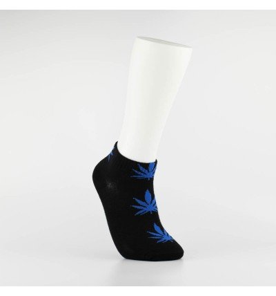 """Kojinės vyrams itin trumpos """"Weed"""" (juoda/mėlyna)"""