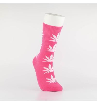 """Kojinės vyrams """"Weed"""" (rožinė/balta)"""
