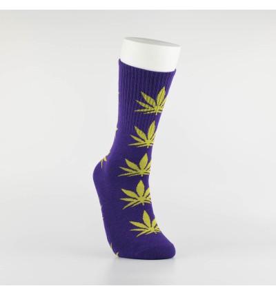 """Kojinės vyrams """"Weed"""" (violetinė/salotinė)"""