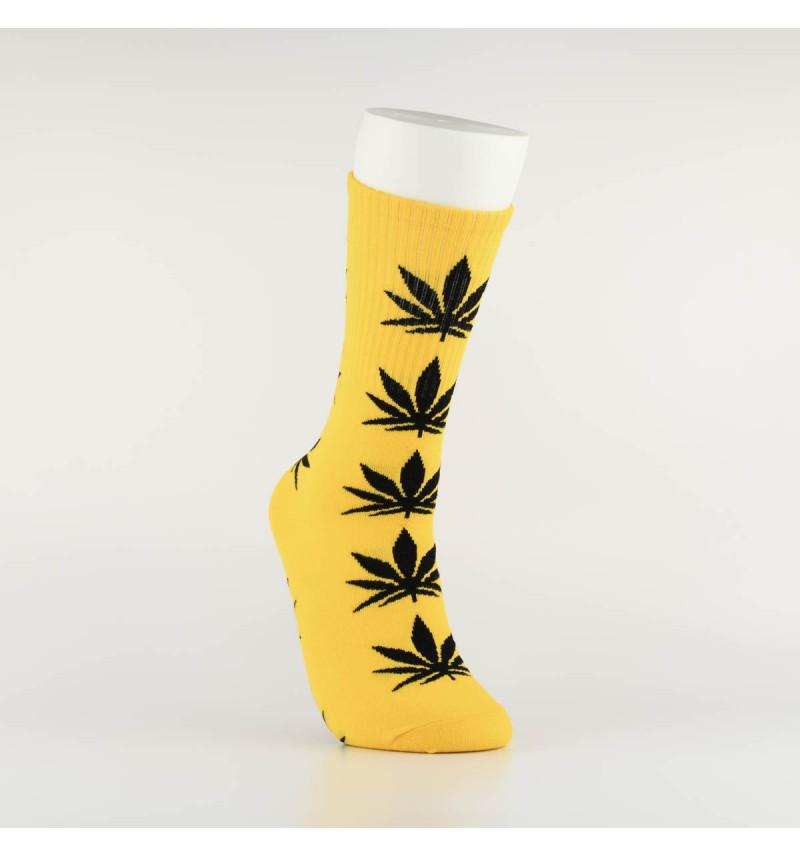 """Kojinės vyrams """"Weed"""" (geltona/juoda)"""