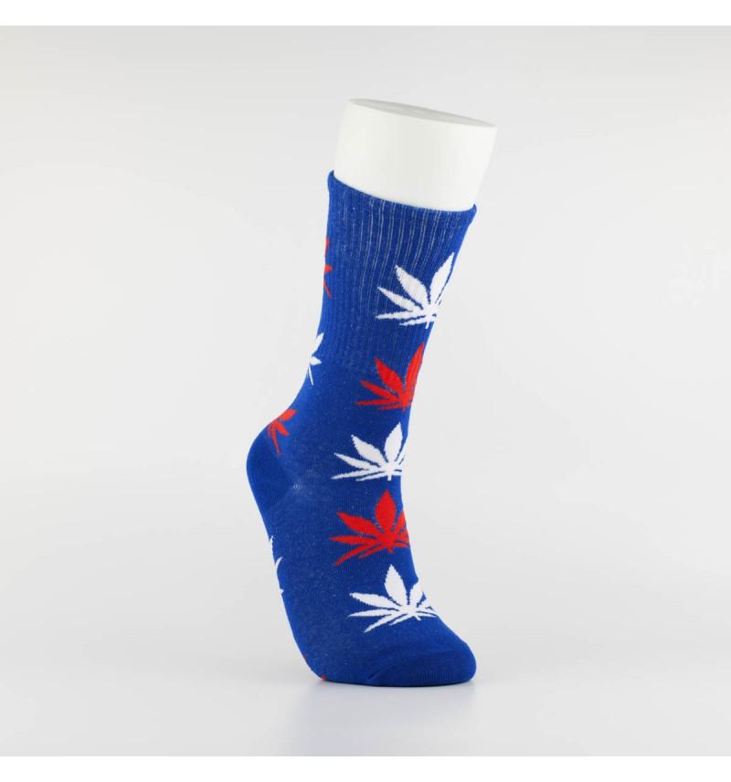 """Kojinės vyrams """"Weed"""" (mėlyna/balta/raudona)"""