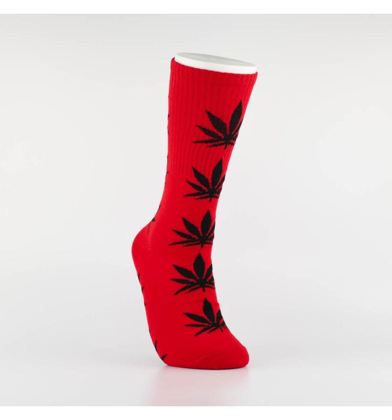 """Kojinės vyrams """"Weed"""" (raudona/juoda)"""
