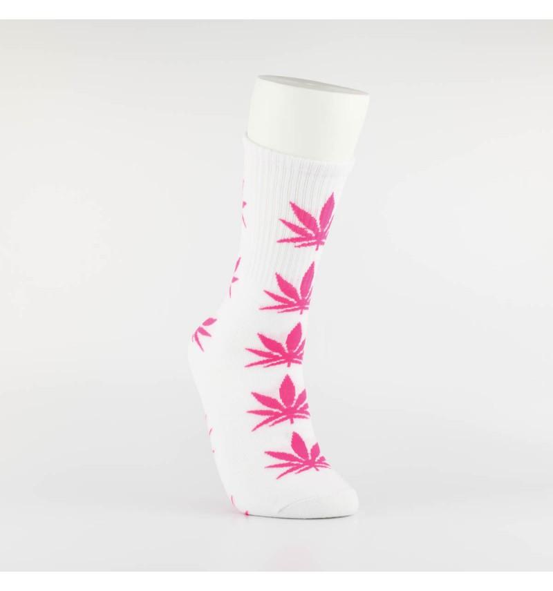 """Kojinės vyrams """"Weed"""" (balta/rožinė)"""