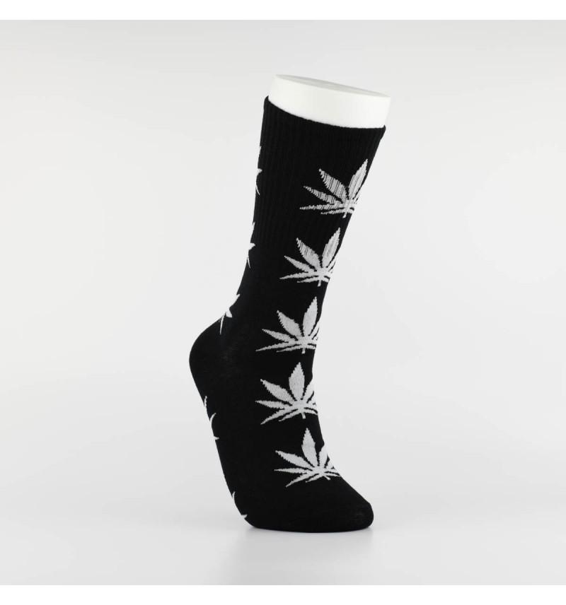 """Kojinės vyrams """"Weed"""" (juoda/pilka)"""