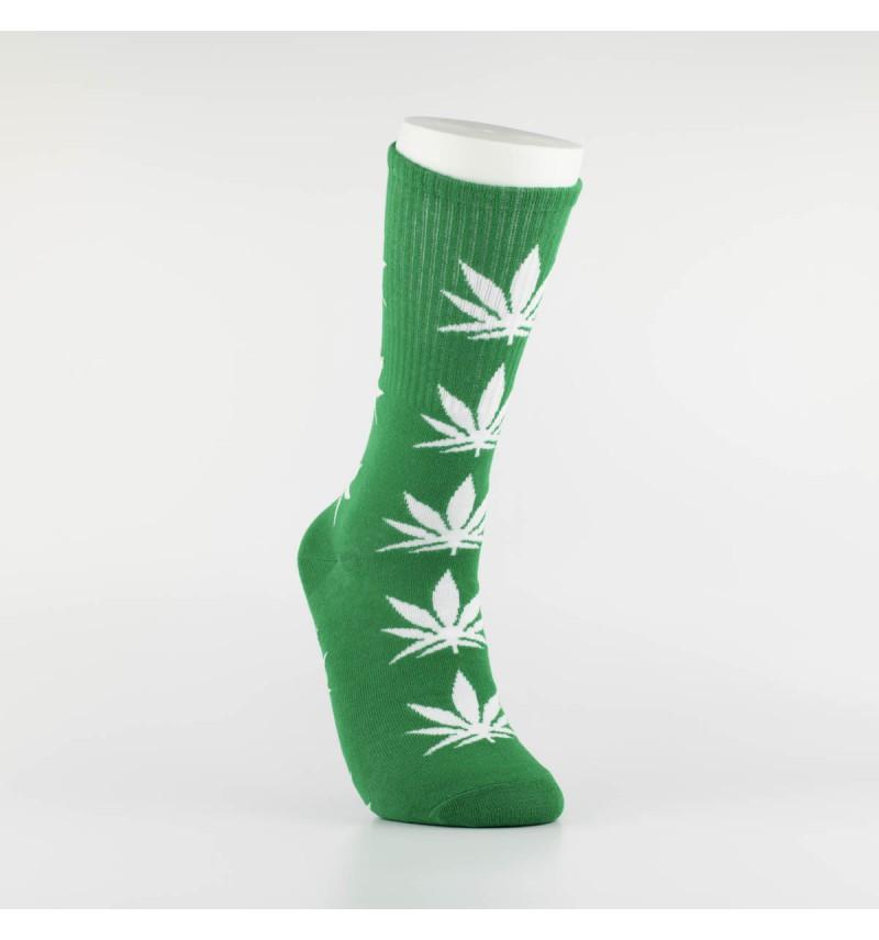 """Kojinės vyrams """"Weed"""" (žalia/balta)"""