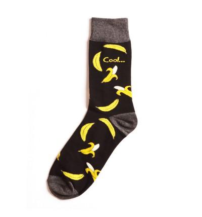"""Vyriškos kojinės """"Bananai"""" (juodos)"""