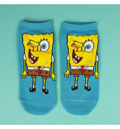 """Moteriškos itin trumpos kojinaitės """"Kempiniukas Plačiakelnis"""""""
