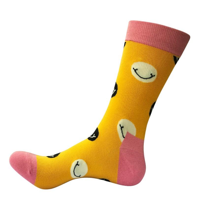 """Vyriškos kojinės """"Šypsenėlė"""" (geltonos)"""