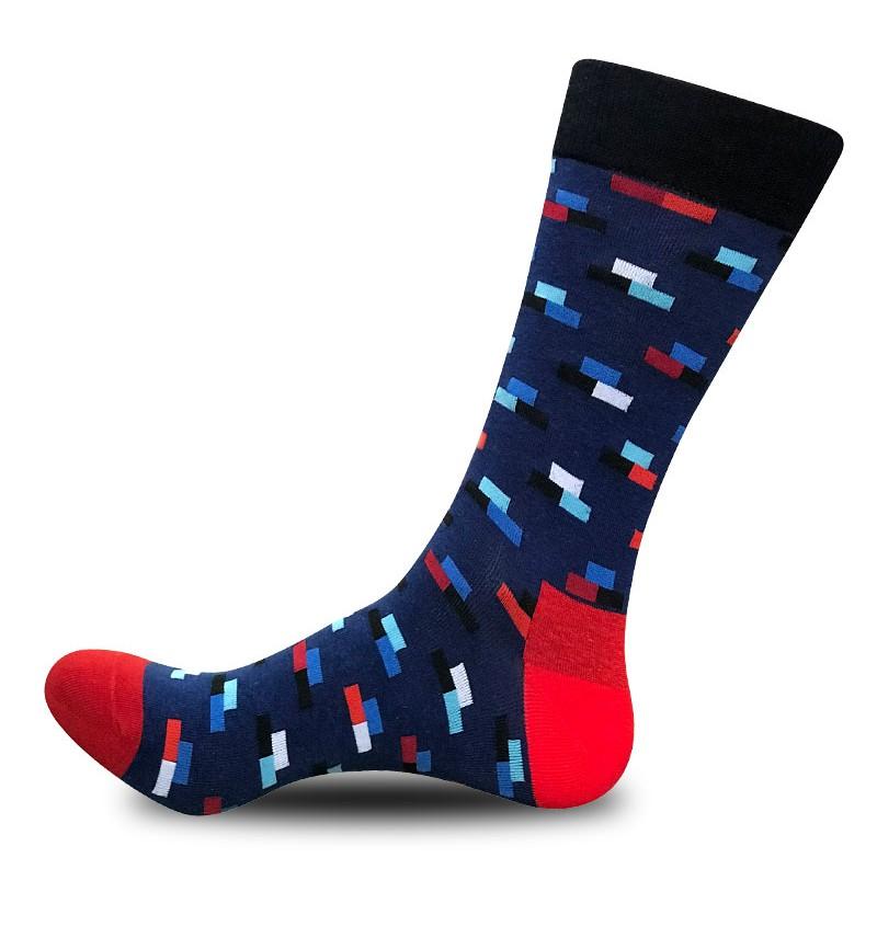 """Vyriškos kojinės """"Kaladėlės"""" (mėlynos)"""