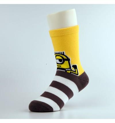 """Vaikiškos kojinės """"Minimukai"""" geltonos"""