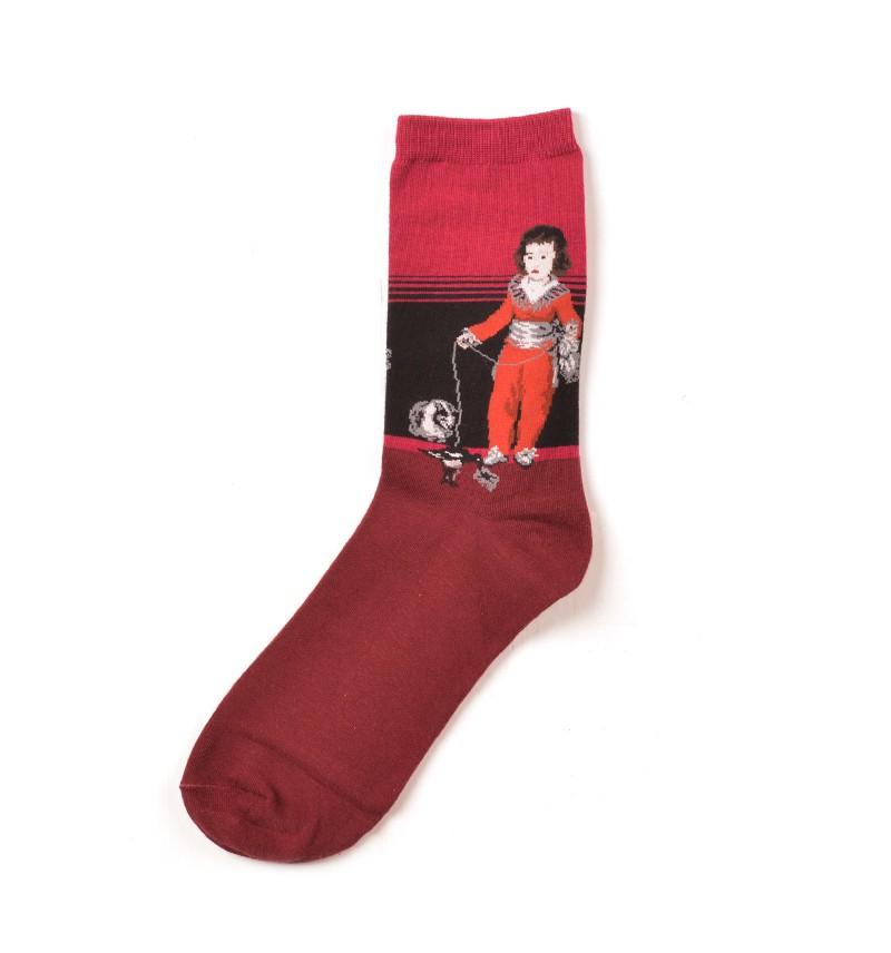 """Vyriškos kojinės """"Raudonas berniukas"""" (rožinės)"""