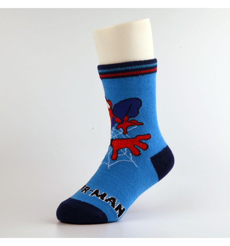 """Vaikiškos kojinės """"Žmogus voras"""" mėlynos"""