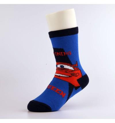 """Vaikiškos kojinės """"Žaibas Makvynas"""" tamsiai mėlynos"""