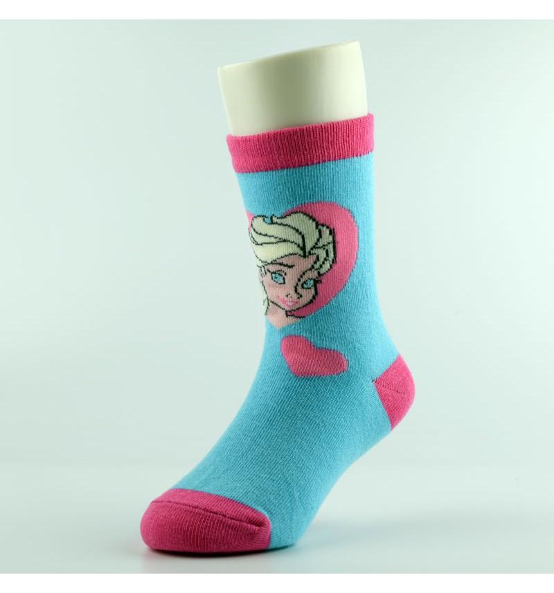 """Kojinės mergaitėms """"Elza"""" šviesiai mėlynos"""