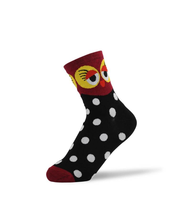 """Moteriškos kojinės """"Raudona pelėda"""""""
