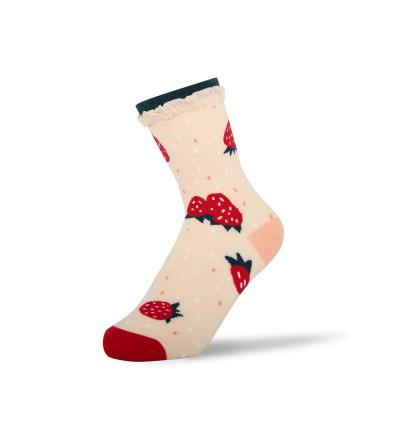 """Moteriškos kojinės """"Braškė"""""""