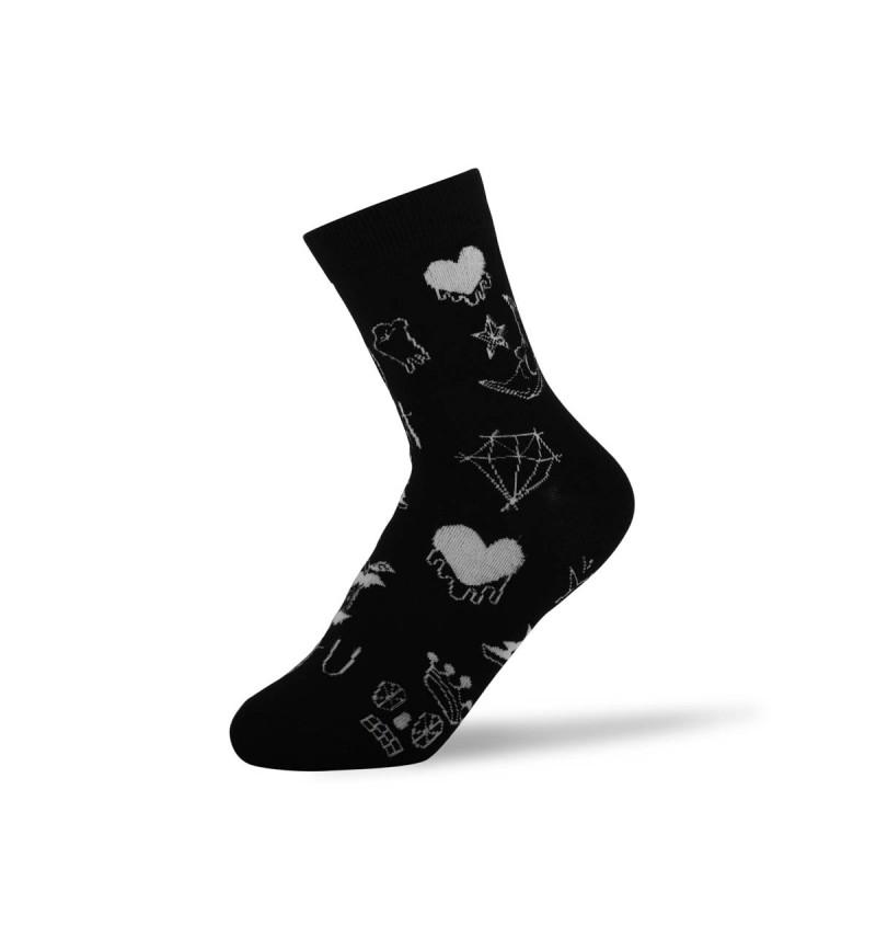 """Moteriškos kojinės """"Margo"""" (juodos)"""
