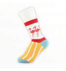 """Moteriškos kojinės """"Flamingai"""" (geltonos)"""