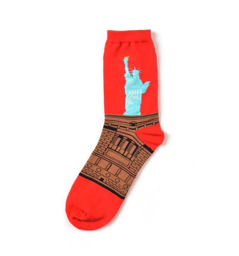"""Vyriškos kojinės """"Laisvės statula"""""""
