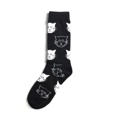 """Vyriškos kojinės """"Katinukai"""" pilki"""