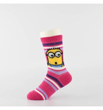 """Kojinės mergaitėms """"Minimukai"""" (3 poros, ružava/violetinė)"""