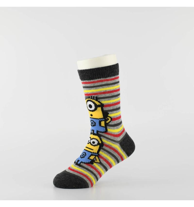 """Vaikiškos kojinės """"Minimukai"""" (3 poros, pilka)"""
