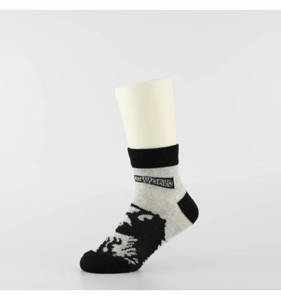 """Vaikiškos kojinės """"Jūros periodo parkas"""" (3 poros, pilka/juoda)"""